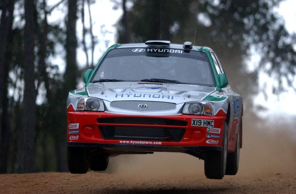 2002 World Rally Championship.Telstra Rally Australia, Perth. October 31st-November 3rd.Juha Kankkunen during shakedown.Photo: Ralph Hardwick/LAT