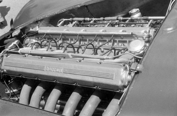 The engine in a Ferrari 121 LM.