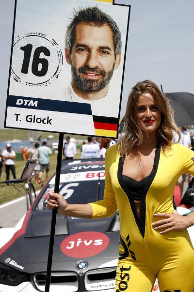 Grid girl of Timo Glock, BMW Team RMG.