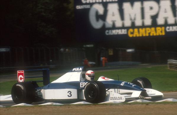 1990 Italian Grand Prix.Monza, Italy.7-9 September 1990.Satoru Nakajima (Tyrrell 019 Ford) 6th position.Ref-90 ITA 13.World Copyright - LAT Photographic
