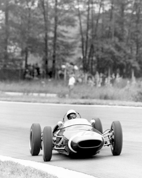 1961 Belgian Grand Prix.Spa-Francorchamps, Belgium, 18 June 1961.Stirling Moss (Lotus 18/21-Climax).World Copyright: LAT Photographic.ref: 40mb Scan from B&W Print