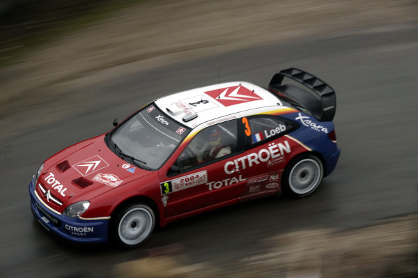 2004 FIA World Rally Champs. Round one, Monte Carlo Rally.22nd-25th January 2004.Sebastien Loeb, Citroen, Action.World Copyright: McKlein/LAT