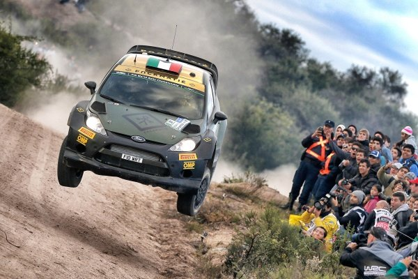 Lorenzo Bertelli (ITA) / Giovanni Bernacchini (ITA) Ford Fiesta RS WRC at World Rally Championship, Rd4, Rally Argentina, Day Three, Carlos Paz, Argentina, 26 April 2015.