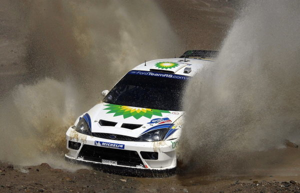 Francois Duval (BEL) / Stphane Prevot (BEL) Ford Focus WRC 03 finished 2nd.World Rally Championship, Rd3, Rally Mexico, Leon, Mexico. Day Three. 14 March 2004.DIGITAL IMAGE