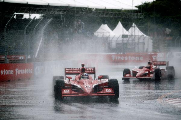 13-14 March, 2010, Sao Paulo, BrazilDario Franchitti and Scott Dixon in the rain©2010, Michael L. Levitt, USALAT Photographic