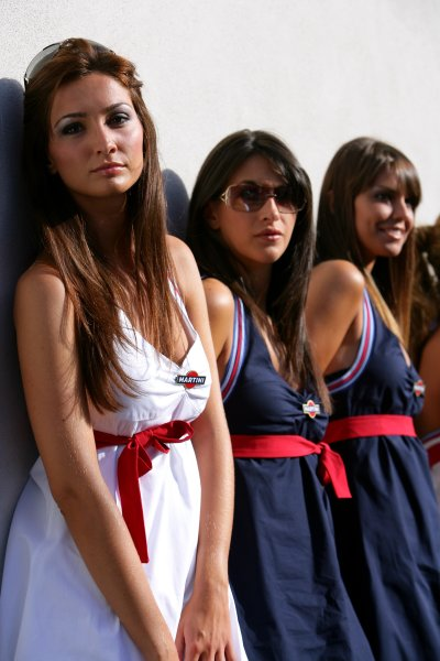 2007 Italian Grand Prix - ThursdayAutodromo di Monza, Monza, Italy.6th September 2007.Martini girls on show in the paddock. Glamour. Atmosphere.World Copyright: Lorenzo Bellanca/LAT Photographicref: Digital Image ZD2J5836