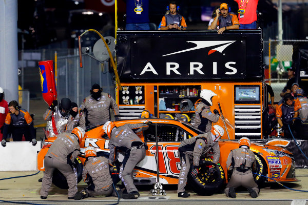 10-11 September, 2015, Richmond, Virginia USA Daniel Suarez, Arris Toyota Camry pit stop ?2015, Russell LaBounty LAT Photo USA