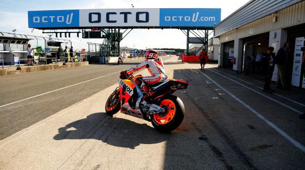 2015 MotoGP Championship.  British Grand Prix.  Silverstone, England. 28th - 30th August 2015.  Marc Marquez, Honda.  Ref: KW5_4324a. World copyright: Kevin Wood/LAT Photographic