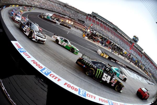 22 August, 2015, Bristol, Tennessee USA Kyle Busch, Monster Energy Toyota Camry and Denny Hamlin, Hisense Toyota Camry ? 2015, Nigel Kinrade LAT Photo USA