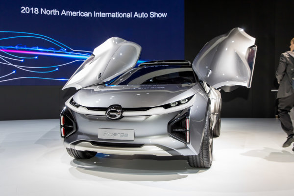 GAC Enverge concept debuts at the 2018 North American International Auto Show in Detroit.