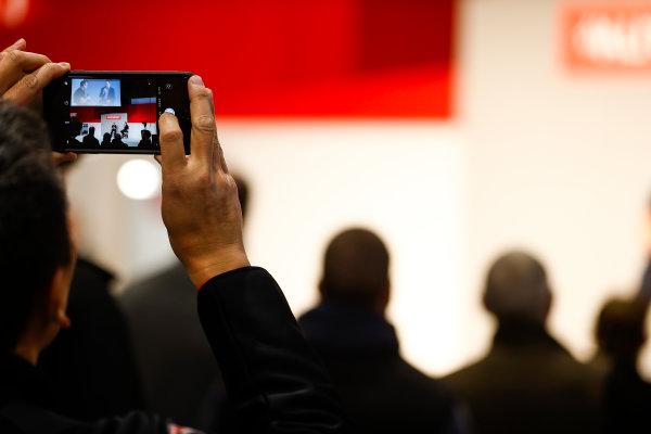 Autosport International Exhibition. National Exhibition Centre, Birmingham, UK. Friday 12th January 2018. John McGuinness to Henry Hope-Frost on the Autosport Stage. World Copyright: Glenn Dunbar/LAT Images Ref: _31I3032