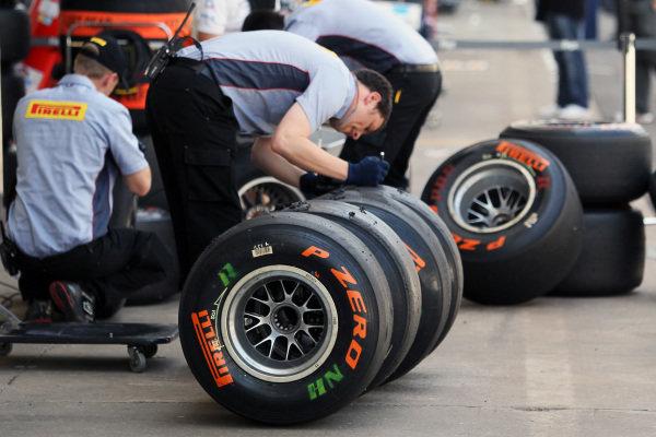 Pirelli 2013 development tyres. Formula One World Championship, Rd20 Brazilian Grand Prix, Practice, Sao Paulo, Brazil, 23 November 2012.