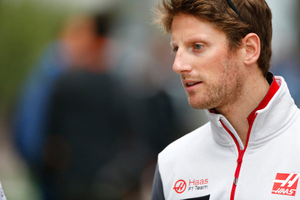 Sochi Autodrom, Sochi, Russia. Friday 29 April 2016. Romain Grosjean, Haas F1. World Copyright: Andy Hone/LAT Photographic ref: Digital Image _ONY7536