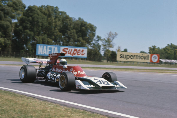 1973 Argentinian Grand Prix.  Buenos Aires, Argentina. 26-28th January 1973.  Howden Ganley, Iso Marlboro FX3B Ford.  Ref: 73ARG14. World Copyright: LAT Photographic
