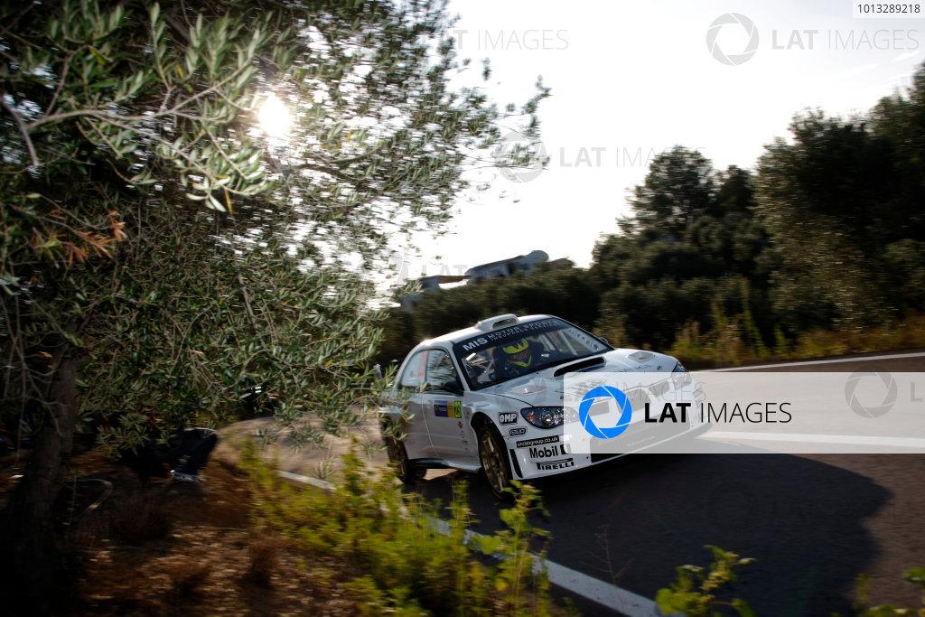 Round 11, Rally of Spain, Catalunya2nd-5th October 2008Gareth Jones, Subaru, actionWorldwide Copyright: McKlein/LAT