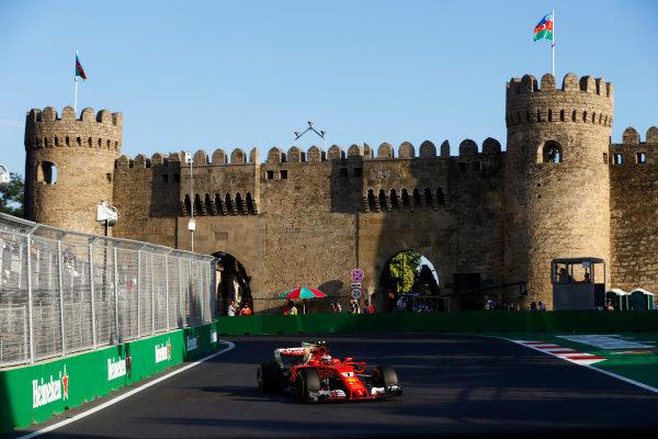 Baku City Circuit, Baku, Azerbaijan. Friday 23 June 2017. Kimi Raikkonen, Ferrari SF70H. World Copyright: Steven Tee/LAT Images ref: Digital Image _R3I2562