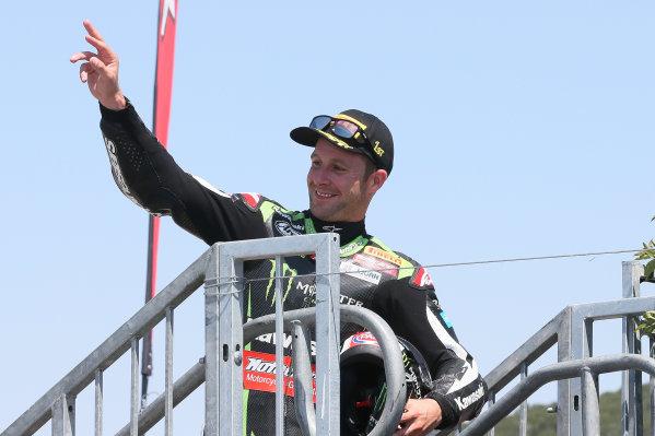 2017 Superbike World Championship - Round 8 Laguna Seca, USA. Sunday 9 July 2017 Winner Jonathan Rea, Kawasaki Racing World Copyright: Gold and Goose/LAT Images ref: Digital Image 683457