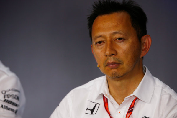 Red Bull Ring, Spielberg, Austria. Friday 07 July 2017. Yusuke Hasegawa, Senior Managing Officer, in the team principals Press Conference. World Copyright: Andy Hone/LAT Images ref: Digital Image _ONY9919