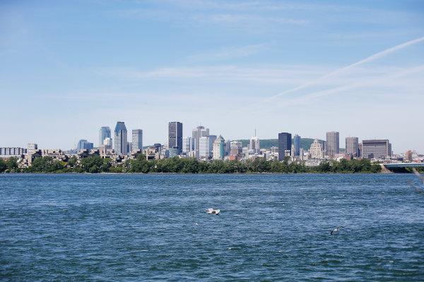 Circuit Gilles Villeneuve, Montreal, Canada. Thursday 4 June 2015. The Montreal skyline. World Copyright: Steven Tee/LAT Photographic. ref: Digital Image _X0W3829