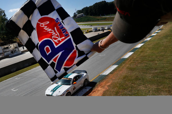 28-30 September, 2016, Braselton, Georgia,  USA , 15, Ford, Shelby GT350R-C, GS, Scott Maxwell, Billy Johnson, checkered flag ?2016, Michael L. Levitt LAT Photo USA