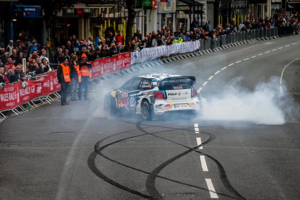 2016 FIA World Rally Championship, Round 13, Wales Rally GB 2016 October 27 - 30, 2016 , Sebastien Ogier, Julin Ingrassia, Celebration  Worldwide Copyright: McKlein/LAT