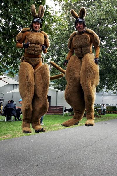 The human kangaroos make it into the paddock. Formula One World Championship, Rd 3, Australian Grand Prix, Practice, Albert Park, Melbourne, Australia, 31 March 2006.  DIGITAL IMAGE BEST IMAGE