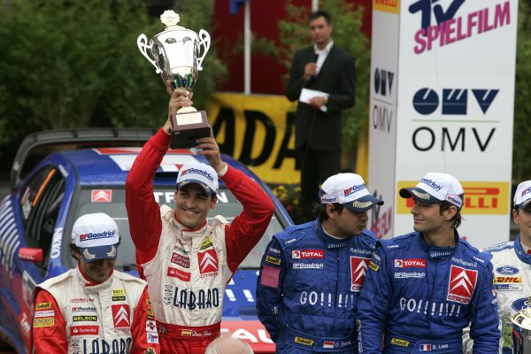 2006 FIA World Rally Champs. Round elevenDeutschland Rally.9th- 13th August 2006.Daniel Sordo, Citroen, Podium.World Copyright: McKlein/LAT
