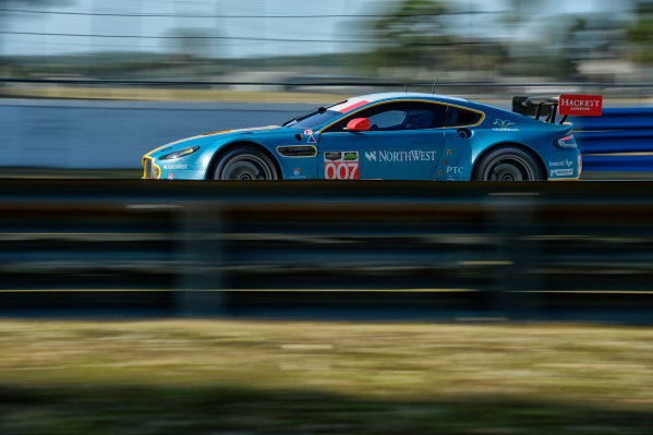 16-17 November, 2013, Sebring, Florida #007 Aston Martin Racing Vantage V8 GTE driven Darren Turner and David Heinemeier Hansson. @2013 Richard Dole LAT Photo USA