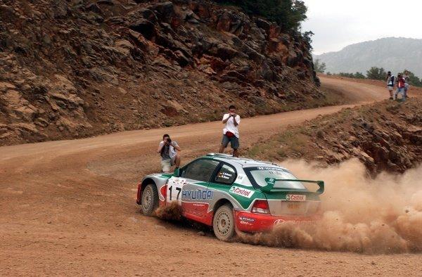 Armin Schwarz (GER) Hyundai Accent WRC3World Rally Championship,  Acropolis Rally Shakedown. 13 June 2002.DIGITAL IMAGE