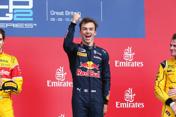 2016 GP2 Series Round 5.  Silverstone, Northamptonshire, UK. Saturday 9 July 2016. Pierre Gasly (FRA, PREMA Racing)  Photo: Ebrey/GP2 Series Media Service. ref: Digital Image AX7K8259