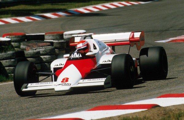 2nd pleaced, Niki Lauda (AUT) McLaren MP4/2 German Grand Prix, Hockenheim, 5 September 1984