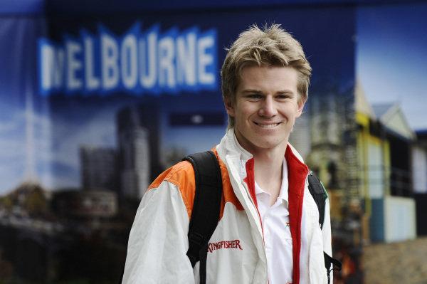 Nico Hulkenberg (GER) Force India F1. Formula One World Championship, Rd1, Australian Grand Prix, Practice, Albert Park, Melbourne, Australia, Friday 16 March 2012.