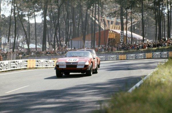 1971 Le Mans 24 hours. Le Mans, France. 12-13 June 1971. Bob Grossman/Luigi Chinetti jr (Ferrari 365 GTB4), 5th position. World Copyright: LAT Photographic Ref: 71LM23