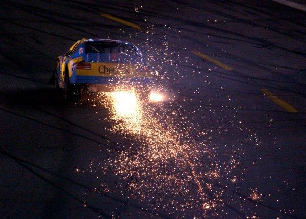 2003 NASCAR,Coca-Cola 600, USA May,22-25,2003 John Andretti sending up a shower of sparks,World Copyright -RobertLeSieur ,May,2003LAT Photographic-ref: digital image