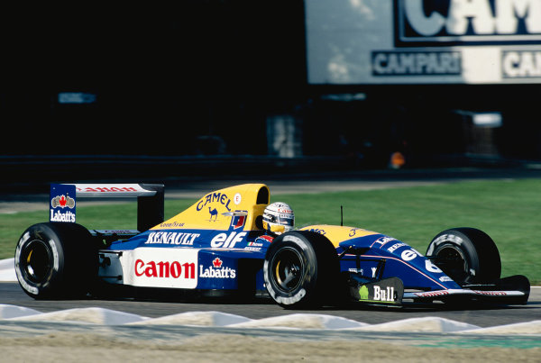 1992 Italian Grand Prix.Monza, Italy. 11-13 September 1992.Riccardo Patrese (Williams FW14B Renault) 5th position.Ref-92 ITA 21.World Copyright - LAT Photographic