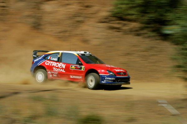 2004 FIA World Rally Champs. Round five, Cyprus Rally.14th- 16th May 2004.Sebastien Loeb, Citroen, action.World Copyright: McKlein/LAT