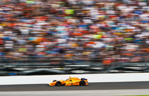 Verizon IndyCar Series Indianapolis 500 Race Indianapolis Motor Speedway, Indianapolis, IN USA Sunday 28 May 2017 Fernando Alonso, McLaren-Honda-Andretti Honda. World Copyright: Steven Tee/LAT Images ref: Digital Image _R3I9095