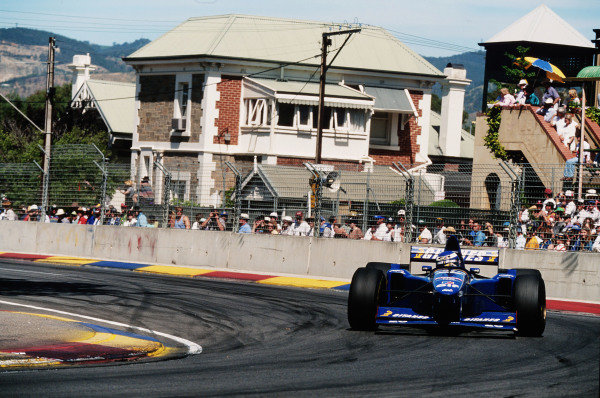 1995 Australian Grand Prix. Adelaide, Australia. 10-12 November 1995. Olivier Panis (Ligier JS41 Mugen-Honda) 2nd position. Ref-95 AUS 20. World Copyright - LAT Photographic