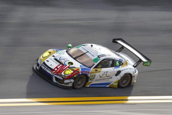 #88: Team Hardpoint EBM Porsche 911 GT3R, GTD: Rob Ferriol, Earl Bamber, Katherine Legge, Christina Nielsen