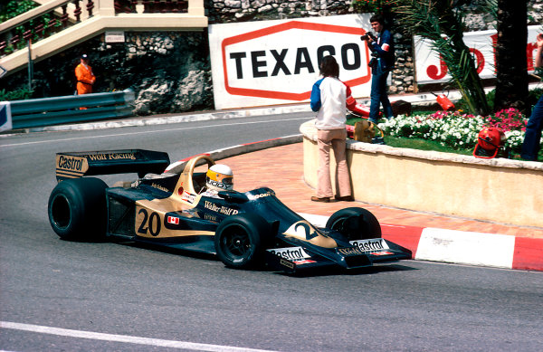1977 Monaco Grand Prix.Monte Carlo, Monaco.20-22 May 1977.Jody Scheckter (Wolf WR1 Ford) 1st position.Ref-77 MON 59.World Copyright - LAT Photographic
