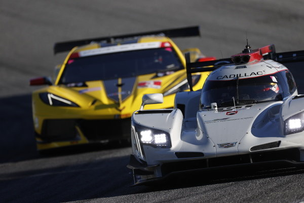 #01: Cadillac Chip Ganassi Racing Cadillac DPi, DPi: Renger van der Zande, Kevin Magnussen, #3: Corvette Racing Corvette C8.R, GTLM: Antonio Garcia, Jordan Taylor