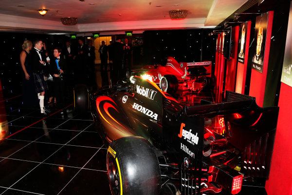 2015 Autosport Awards. Grosvenor House Hotel, Park Lane, London. Sunday 6 December 2015. McLaren Honda. World Copyright: Adam Warner/LAT Photographic. ref: Digital Image _L5R8958