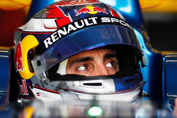 FIA Formula E Test Day, Donington Park, UK.  3rd - 4th July 2014.  Sebastien Buemi, e.dams. Photo: Zak Mauger/FIA Formula E ref: Digital Image _L0U5157