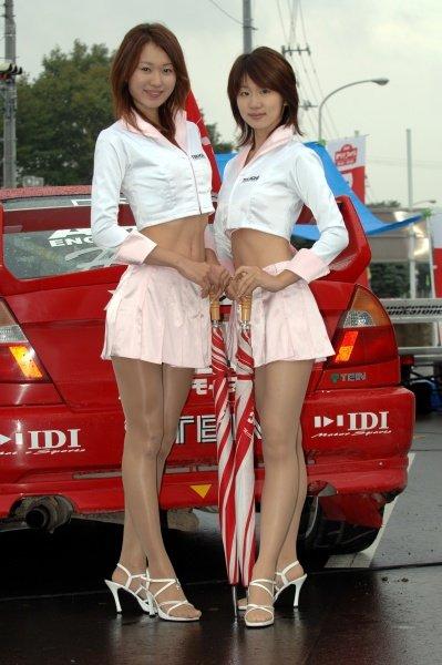 2005 FIA World Rally Championship, Rally Japan, September 29 - October 2, 2005.Obihiro, Japan.Leg 2.Promotion girlsDigital Image