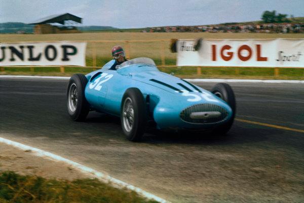 Reims, France. 29/6-1/7 1956. Hermanos Da Silva Ramos (Gordini T32) 8th position. Ref-56 FRA 08. World Copyright - LAT Photographic