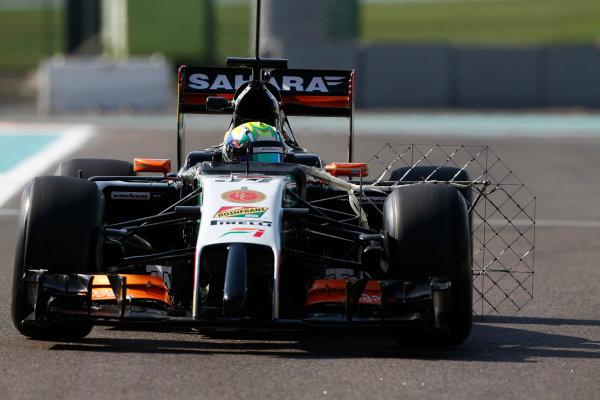 Yas Marina Circuit, Abu Dhabi, United Arab Emirates. Wednesday 26 November 2014. Spike Goddard, Force India VJM07 Mercedes.  World Copyright: Sam Bloxham/LAT Photographic. ref: Digital Image _SBL8827