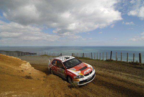 Production winner Martin Prokop (CZE), Mitsubishi Lancer EVO IX, on stage 15.FIA World Rally Championship, Rd11, Repco Rally New Zealand, Day Three, Sunday 31 August 2008.