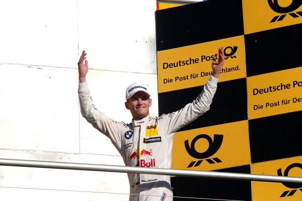 2017 DTM Round 9  Hockenheimring, Germany  Sunday 15 October 2017. Podium: Race winner Marco Wittmann, BMW Team RMG, BMW M4 DTM  World Copyright: Alexander Trienitz/LAT Images ref: Digital Image 2017-DTM-HH2-AT2-1952
