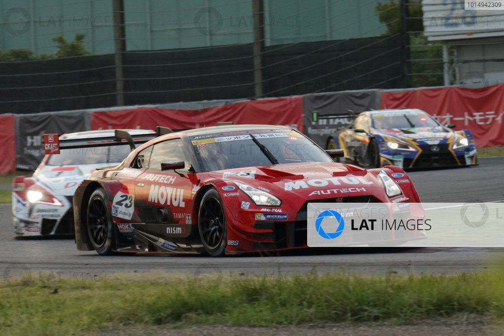 2017 Japanese Super GT Series. Suzuka, Japan. 26th - 27th August 2017. Rd 6. GT500 2nd position Tsugio Matsuda & Ronnie Quintarelli ( #23 MOTUL AUTECH GT-R ) action World Copyright: Yasushi Ishihara / LAT Images. Ref: 2017SGT_Rd6_010