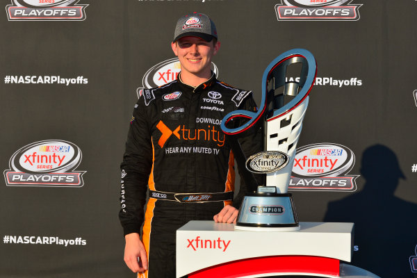 NASCAR XFINITY Series TheHouse.com 300 Chicagoland Speedway, Joliet, IL USA Saturday 16 September 2017 Matt Tifft, TMNT Lone Rat & Cub/ABTA Toyota Camry, Xfinity trophy  World Copyright: Logan Whitton LAT Images